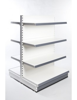 Extra Shallow Double Sided Gondola Shelving (300mm)