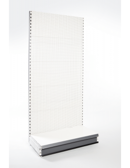Extra Deep Wall Shelving with Pegboard Backpanels (670mm)