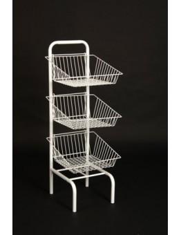 3 Tier Basket Unit - White