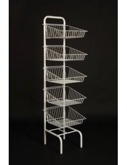 5 Tier Basket Unit - White