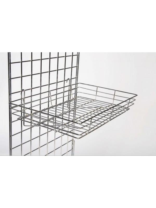 Gridwall Heavy Duty Basket - Chrome