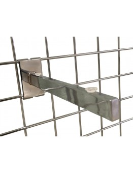 Gridwall Glass Shelf Brackets 200mm - Chrome