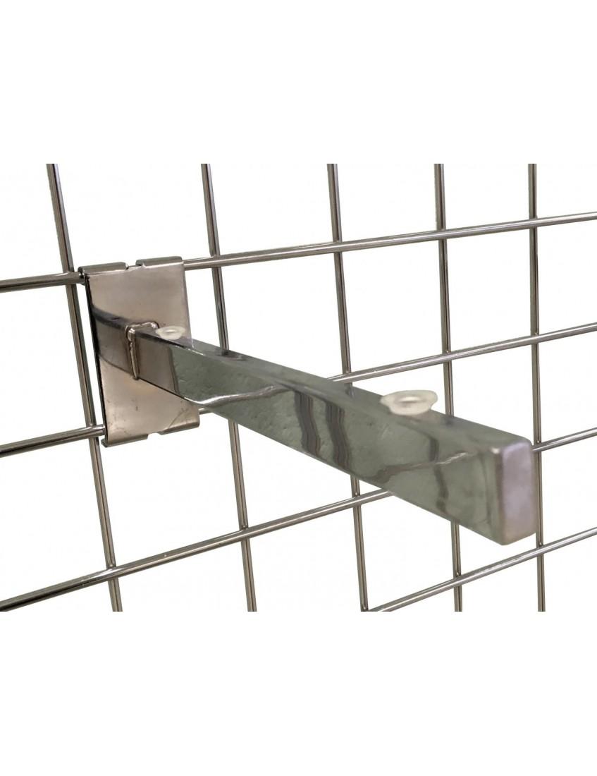 Gridwall Glass Shelf Brackets 300mm Chrome