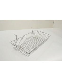 Multi-fit Basket Shallow 600 x 300 x 100mm - Chrome