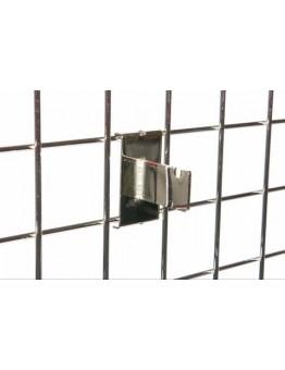 Gridwall One Notch Bracket - Chrome