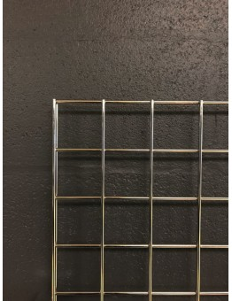 Gridwall Panel 1220 H x 610mm W (4') -Chrome