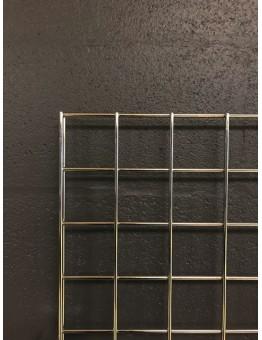 Gridwall Panel 2440 W x 610mm W (8') - Chrome