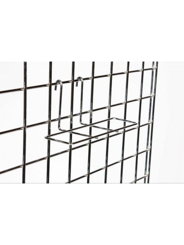 Gridwall Shoe Shelf - Chrome