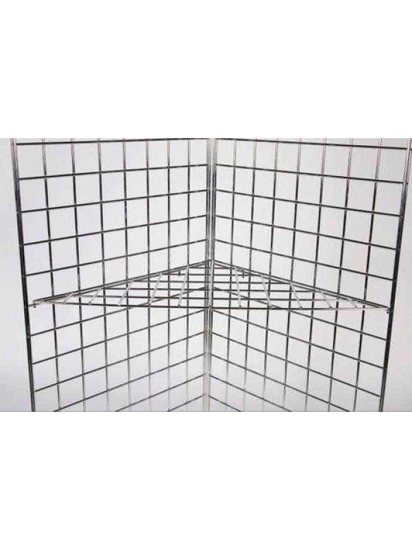 Gridwall Triangular Shelf - Chrome