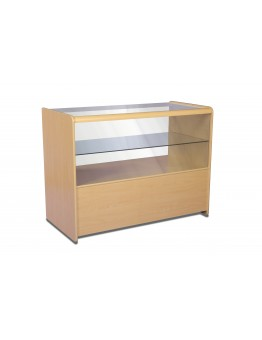 Half Glass Shop Counter 1200mm (W) - Maple