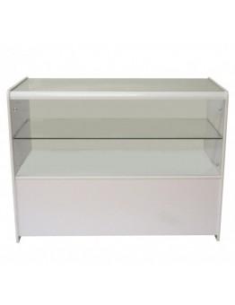 Half Glass Shop Counter 1200mm (W) - White