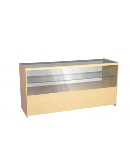 Half Glass Shop Counter 1800mm (W) - Maple