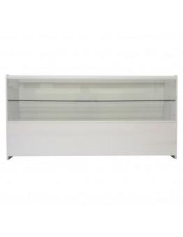 Half Glass Shop Counter 1800mm (W) - White