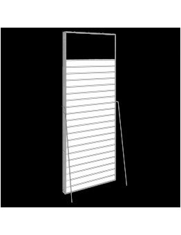 PVC Slatwall Freestanding Double Sided Unit - White