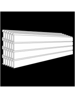 PVC Slatwall Panel (Pack of 6) - White