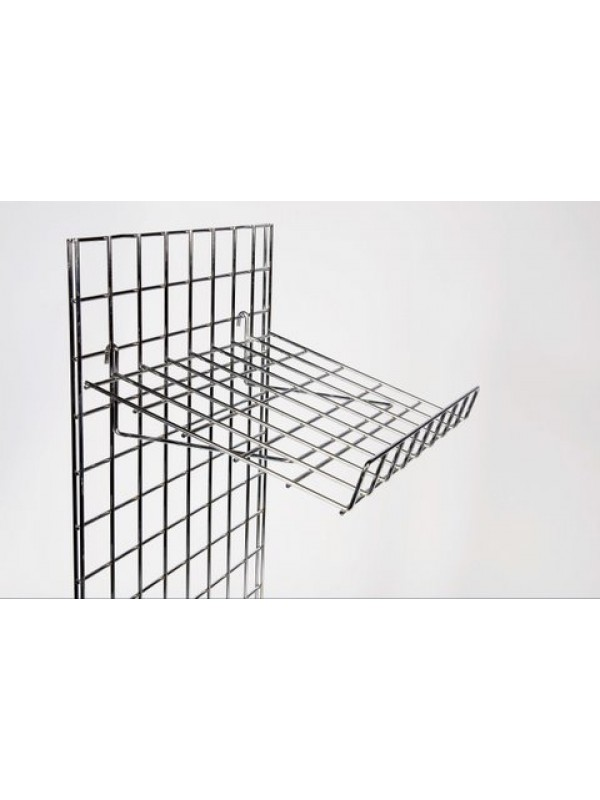 Gridwall Slanting Shelf - Chrome