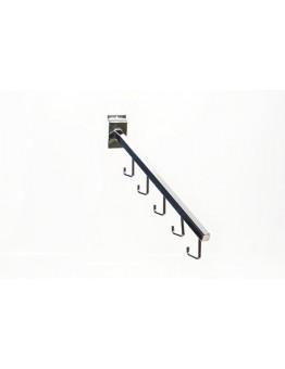 Slatwall Five Hook Waterfall Arm - Chrome