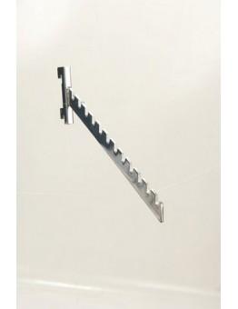 Twin Slot 12 Notched Arm - Chrome